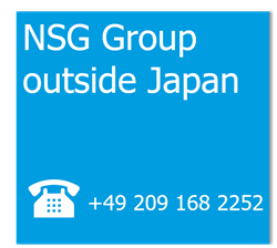 Phone NSG Group outside Japan +49 209 168 2252