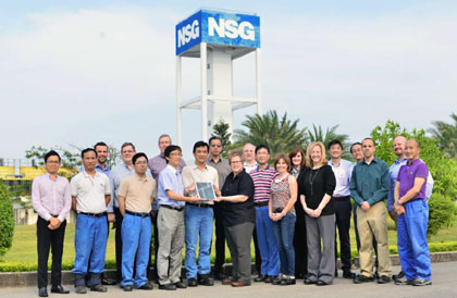 Supplier Award for NSG Group's Solar Glass Quality
